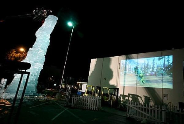 santa monica ice age l'age de glace scrat statue sculpture glace DVD 4