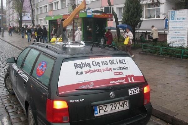mbank ambient marketing taxi outdoor billboard hache pologne varsovi 1 600x399 Как польские операторы сотовой связи рубанули тарифы