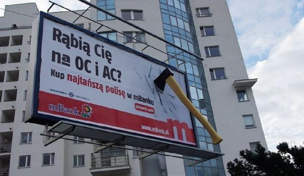 mbank ambient marketing taxi outdoor billboard hache pologne varsovi 5 600x348 Как польские операторы сотовой связи рубанули тарифы