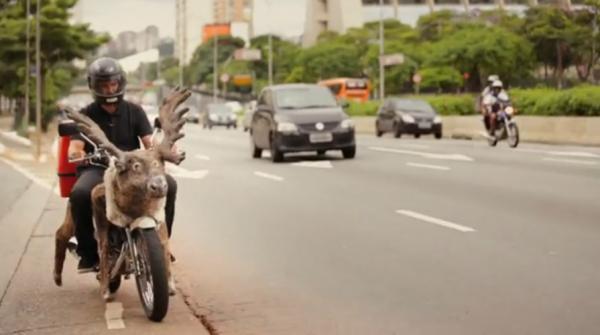 antonio correa moto reindeer renne habib's brazil bresil ambient marketing alternatif livraison fast food 3