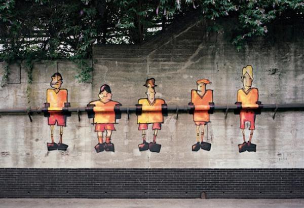 street art bristol so design consultant birmingham ambient marketing orange UK painting paint 4