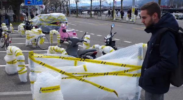 papier bulle ambient marketing wirz suisse casque velo love cyclistes sécurité 3