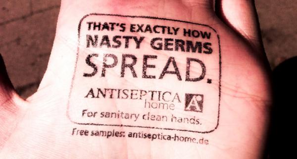 Grabartz partner marathon hamburg ambient marketign sanitizer antiseptique germe bactérie 1